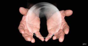 Magicien, Captivator, Magie, Boule, Mains, Bulle